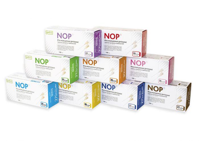 Иглы инъекционные дентальные стерильные однократного применения NOP 27Gx30 мм (уп/100 шт), Spident